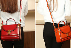 Genuine Leather handbag doctor bag shoulder bag for women leather bag