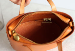 Womens Leather Bucket Bag Shopper Bag Leather Handbag Shoulder Bag for Women
