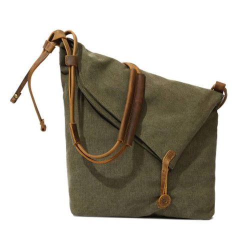 Mens Canvas Rustic Courier Bag Side Bag Messenger Bag Camera Shoulder Bag for Men
