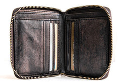 Genuine leather billfold wallet leather men billfold vintage wallet for men