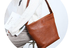 Handmade Leather Handbag Tote Bags Shopper Bag Shoulder Bag Purse For Women