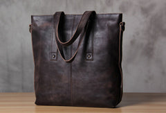 Handmade Leather handbag purse tote shoulder bag for women leather shopper bag