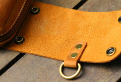 Handmade Leather Mens Cell Phone Holsters Waist Bag Hip Pack Belt Bag for Men