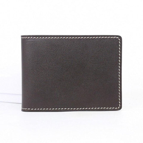 Leather Mens Slim license Wallet Card Wallets Slim Wallet Front Pocket Wallet for Men