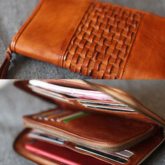Leather Long Wallet Zip Around Wallet Bag Phone Purse Clutch For Womens - Annie Jewel