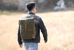 Canvas Mens Cool Backpack Bag Sling Bag Large Travel Bag Hiking Bag for Men