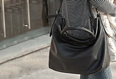 Handmade Genuine Leather Large Handbag Shopper Bag Crossbody Bag Shoulder Bag Purse For Women