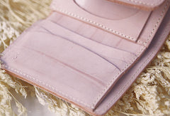 Handmade leather braided personalized custom clutch purse short triple wallet purse clutch women