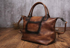 Handmade Leather handbag purse shoulder bag for women leather shopper bag