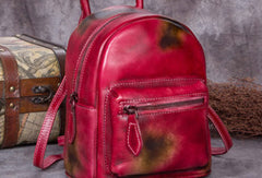 Vintage Leather Womens Backpack Bag School Vintage Backpack Purse for Women