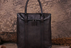 Vintage Leather Mens Briefcases Work Bag Business Bags for men