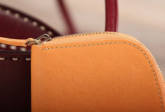 Handmade leather womens zipper clutch wallet long wallet for women