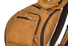 Genuine Leather Cool Chest Bag CrossBody Sling Bag Travel Bag Hiking Bag For Men
