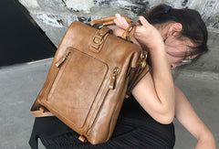 Handmade Leather Handbag Backpack Bag Crossbody Bag Shoulder Bag Purse For Women