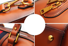Genuine Leather handbag Boston bag shoulder bag for women leather bag