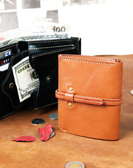 Genuine Leather Wallet Short Leather Wallet Befold Wallet For Men Women