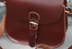 Handmade womens vintage leather crossbody bag  Shoulder Bag for women