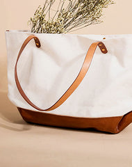 Leather Canvas Handbag Tote Bag Shoulder Bag Purse For Women