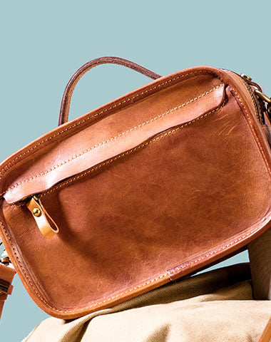 Genuine Leather Handmade Handbag Shoulder Bag Purse For Women