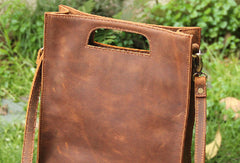 Handmade vintage rustic leather crossbody Shoulder Bag handbag for women lady