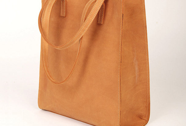 Yellow----Handmade vintage rustic leather normal tote bag shoulder bag handbag for women