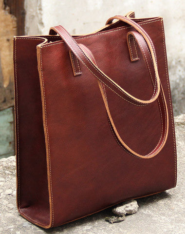 d1d9bd971 Handmade vintage womens leather tote bags shoulder bag for women