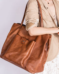 Handmade Genuine Leather Handbag Tote Large Shopper Bag Purse Handbag Shoulder Bag Purse For Women