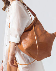 Genuine Leather Unique Handmade Handbag Tote Geometric Shoulder Bag Purse For Women Leather Shopper Bag