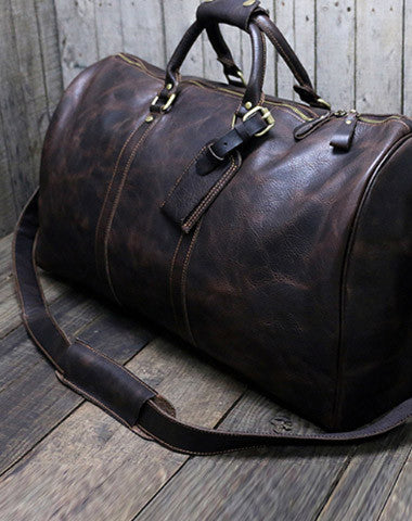 [ Onle Sale ] Cool leather mens Weekender Bag Duffle Bag Travel bag Overnight Bag