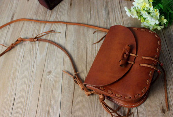 Handmade shoulder bag leather Satchel School crossbody messenger Shoulder Bag for women