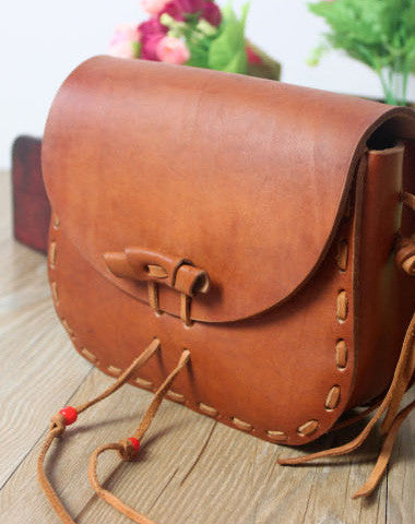 Handmade shoulder bag leather Satchel School crossbody Shoulder Bag for women