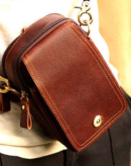 Leather Mens Small Belt Pouch Waist Bag Hip Pack Belt Bag for Men