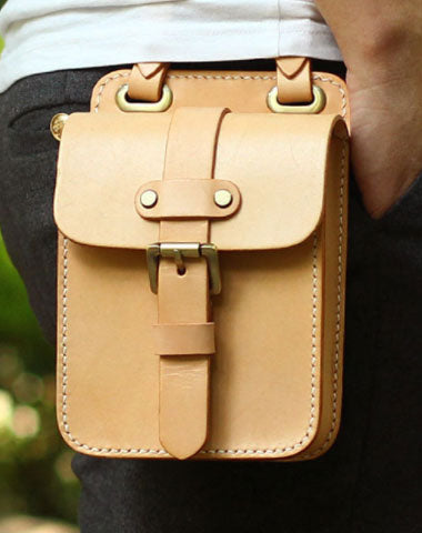 1707da49b7 Genuine Leather Mens Hip Bag Cool Waist Bag iPad Bag Bike Bag Cycling Bag  For Men