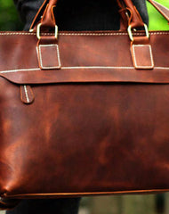Genuine Leather Mens Briefcase Messenger Bag Laptop Bag Shoulder Bag for men