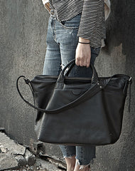 Black Fashion Leather Handbag Work Bag Shoulder Bag Purse For Women