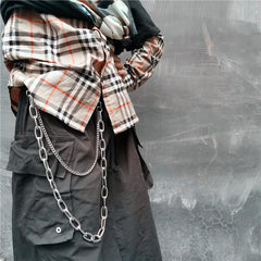 Badass Double Mens Silver Long Wallet CHain Pants Chain Jean Chain For Men