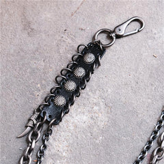 Badass Hip Hop Mens Metal Double Layer Wallet Chain Key Chain Pants Chain For Men