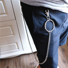 Badass Men's Womens Silver Ring  Pants Chain Long Wallet Chain Biker Wallet Chain For Men