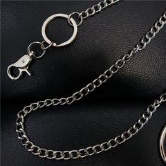 Fashion Womens Mens Silver Ring Simple Long Wallet Chain Pants Chain Biker Wallet Chain For Men