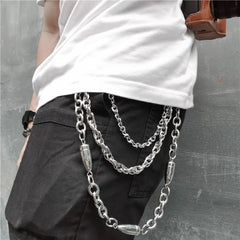 Badass Punk Mens Triple Long Bullet Wallet Chain Pants Chain jeans chain jean chain For Men