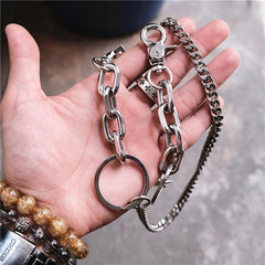 Badass Silver Womens Mens Jean Chain Pants Chain Long Biker Wallet Chain For Men