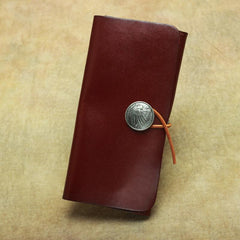 Cool Handmade Leather Men's Envelope Long Wallet Vintage Long Wallet For Men