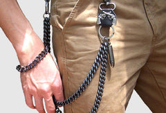 Black biker trucker bullet hook wallet Chain for chain wallet biker wallet trucker wallet