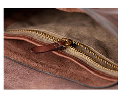 Fashion Black Wrinkled Leather Men 8 inches Small Side Bag Coffee Cool Messenger Bags Postman Bag For Men