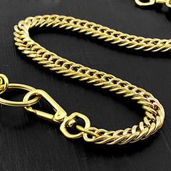 Brass Cool Pants Chain Motorcycle Biker Wallet Chain Gold Long Wallet Chain For Men