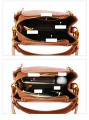 Brown LEATHER Stylish WOMEN Handbag Purse SHOULDER BAG Purse FOR WOMEN