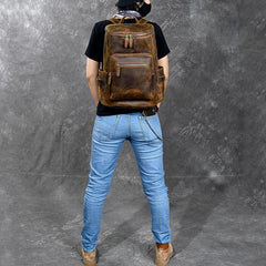 Brown Leather Men 14
