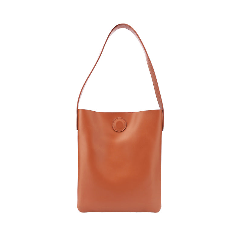 Brown Leather Womens Tote Bag Purse Shoulder Bag For Women