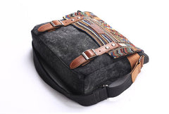 Gray Waxed Canvas Country Style Mens 11'' Side Bag Courier Bag Shoulder Bag Small Messenger Bag for Men