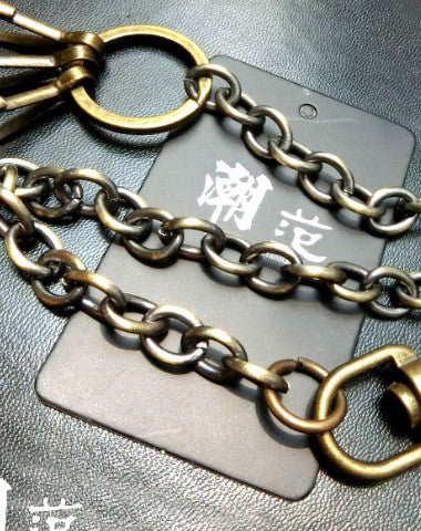 Brass biker trucker hook wallet Chain for chain wallet biker wallet trucker wallet
